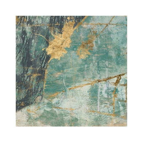 Teal Lace II - Canvas Art