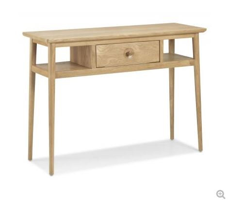 Skien Oak - Console Table with Drawer