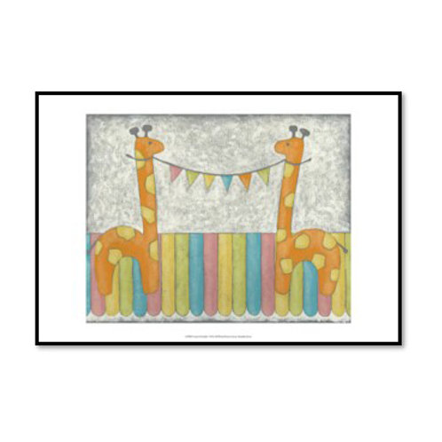 Carnival Giraffes - Framed & Mounted