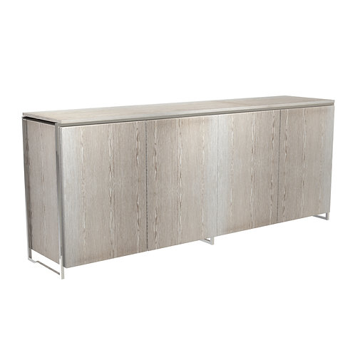 Federico Four Door Sideboard in Polished Frame