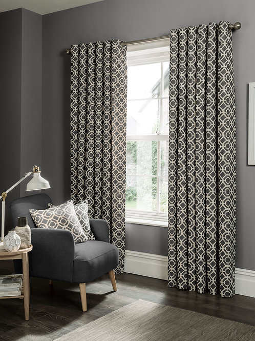 Castello Charcoal Curtains