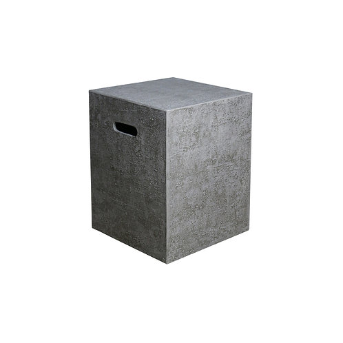 HPC Concrete Square Large Tank Cover in Light Grey