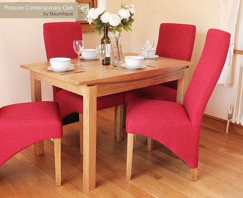 Roscoe Contemporary Oak Small Dining Table (1.2M / 4 seater)
