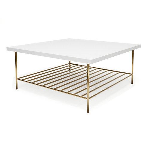 Alberto Square Coffee Table - White
