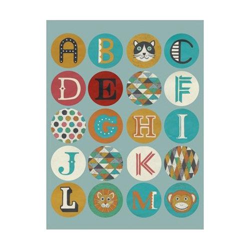 Lucien's Alphabet I - Canvas Art