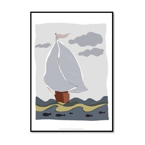 Oceans Ahoy III - Framed & Mounted Art