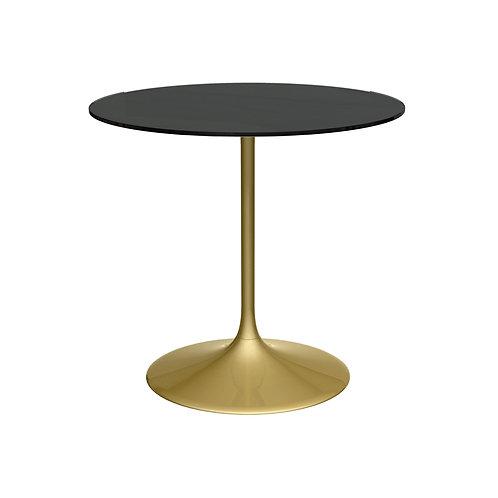 Swan Small Circular Dining Table - Brass Base