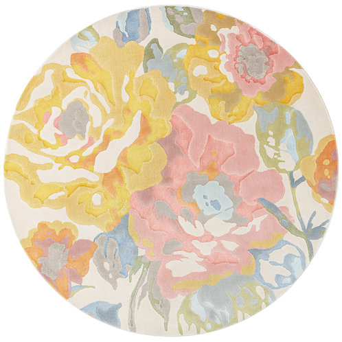City - Rose Garden Circular Rug - Multi/ Pastel