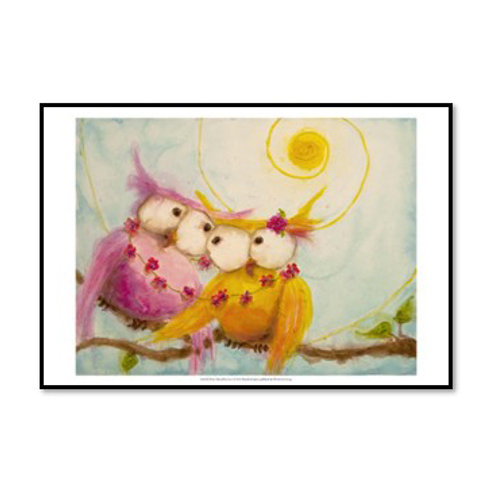 Hoo's Bound By Love - Framed & Mounted Art