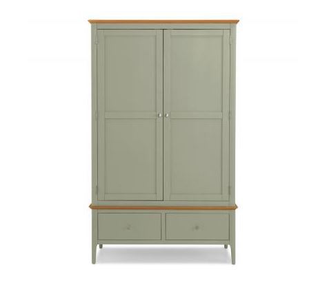 Sedona Painted - Double Wardrobe with Drawers