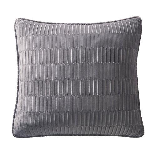 Charcoal Velvet Pleat Boudoir Cushion