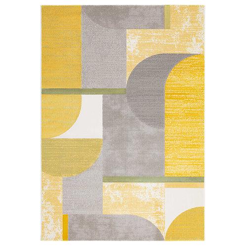 City - Bauhaus I Rug - Yellow/ Grey