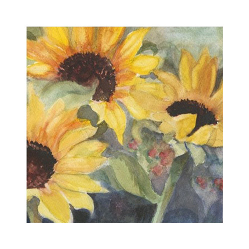 Sunflowers in Watercolour II - Canvas Art