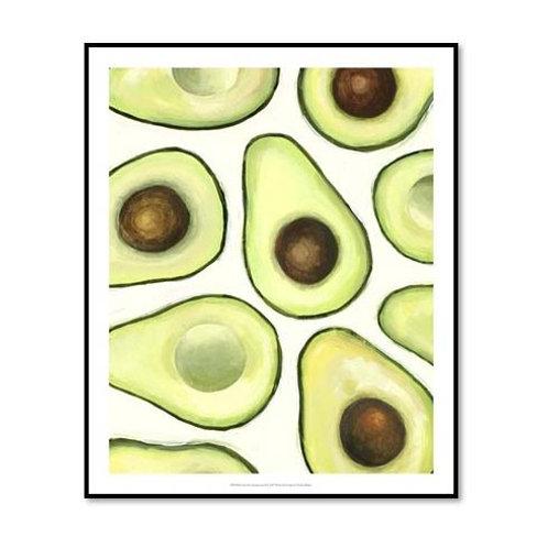 Avocado Arrangement II - Framed & Mounted Art