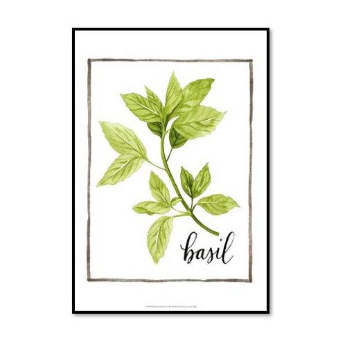 Watercolour Herbs I - Framed & Mounted Art