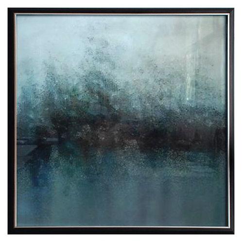 Creek Abstract Framed Art