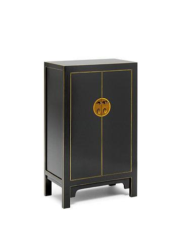 40540 - The Nine Schools Qing Black and Gilt Medium Cabinet
