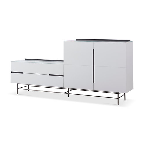 Alberto Door & Drawer Combination Sideboard - White