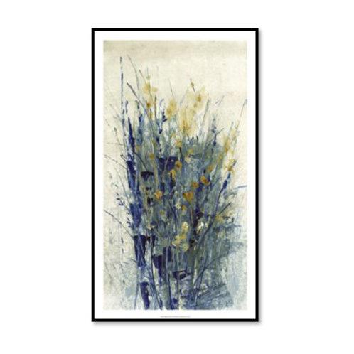Indigo Floral II - Framed & Mounted
