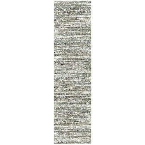 Mehari - Sketch III Runner Rug - Blue / Brown
