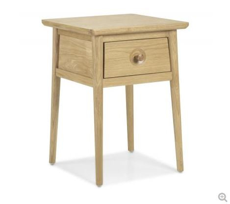 Skien Oak - Lamp Table with Drawer