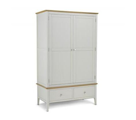 Branford Painted - Double Wardrobe with Drawers