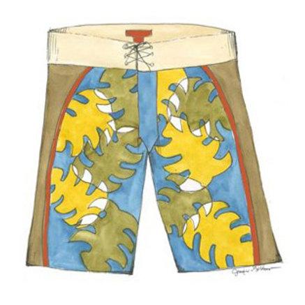 Surf Shorts I - Canvas Art