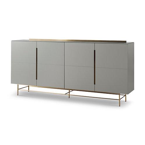 Alberto Four Door High Sideboard - Grey