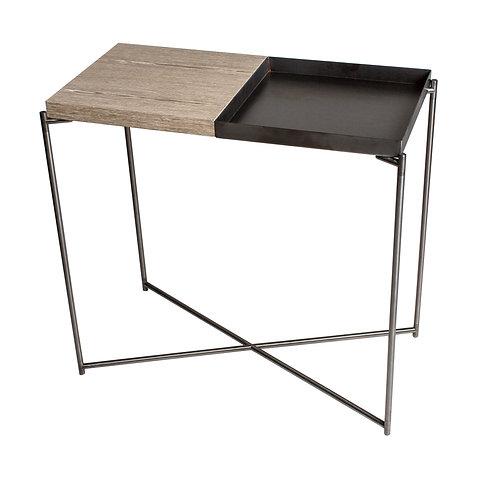 Iris Small Console Table - Gun Metal Frame