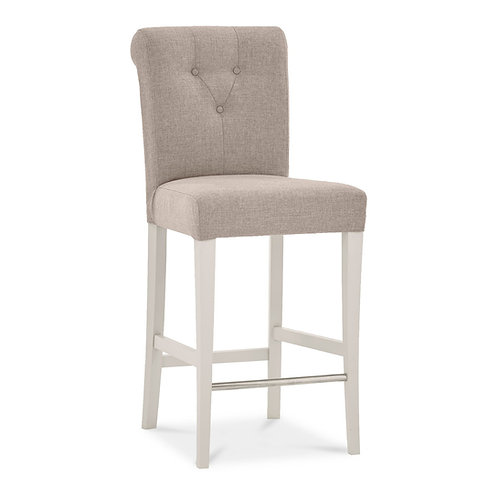 Montreux Soft Grey Uph Bar Stool - Grey Bonded Leather (Pair)
