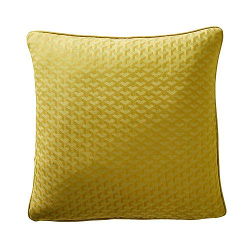 Turmaric Geo Jacquard Square Cushion
