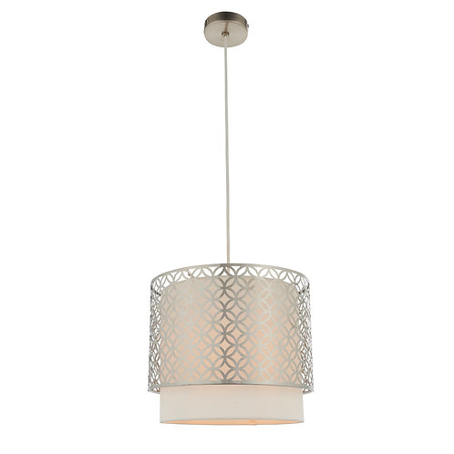 Small Penelope Pendant Lamp - Nickel and White