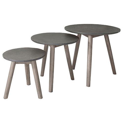 Van de Berg Tables Grey (Nest of 3)