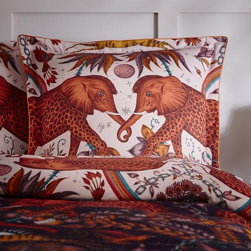 Zambezi Wine/Blush Square Pillowcase