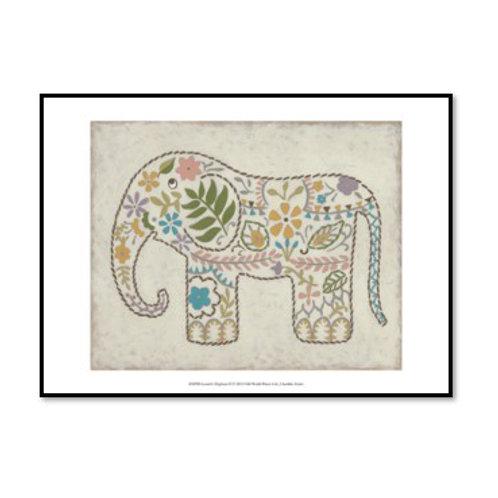 Laurel's Elephant II - Framed & Mounted Art