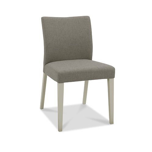 Bergen Grey Washed Upholstered  Chair (Pair)