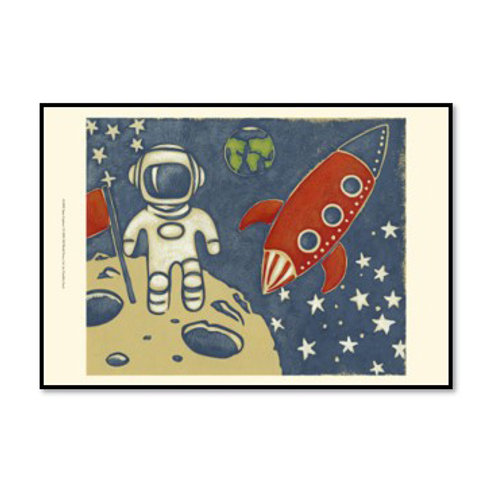 Space Explorer I - Framed & Mounted Art