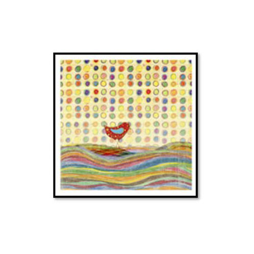 Feathers, Dots & Stripes VII- Framed & Mounted Art