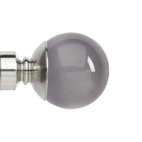 Neo Premium 28 mm  Smoke Grey Ball Finial - Stainless Steel