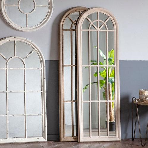 Antique White Shawland Mirror