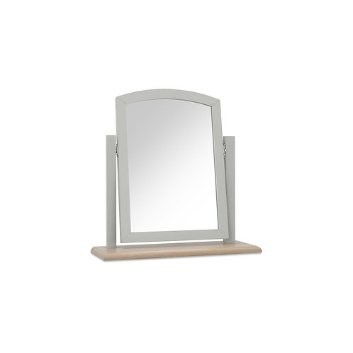 Whitby Scandi Oak & Grey Vanity Mirror