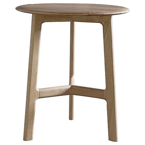 Atletico Round Side Table - Oak