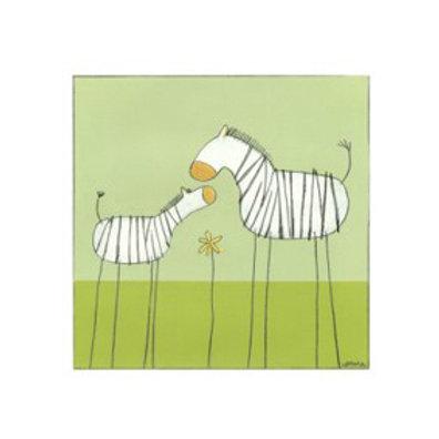 Stick-Leg Zebra II - Canvas Art