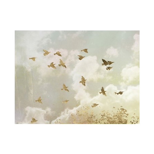 Golden Flight II - Canvas Art