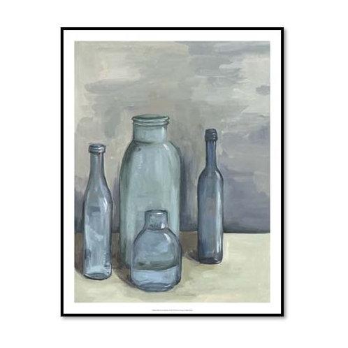 Still Life with Bottles I - Framed & Mounted Art