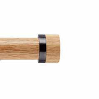 Neo Oak 35 mm Stud Finial - Black Nickel