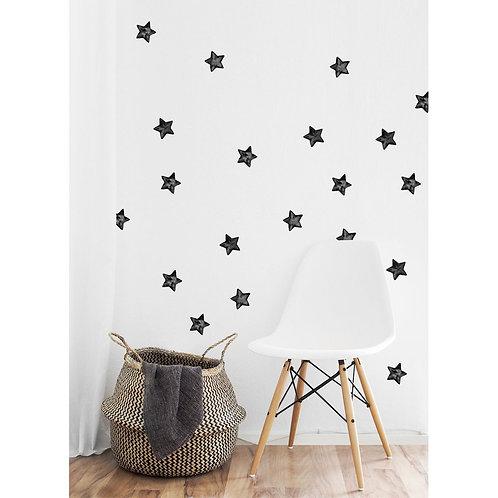Watercolour Stars - Kids Wall Stickers - Mono-Colour