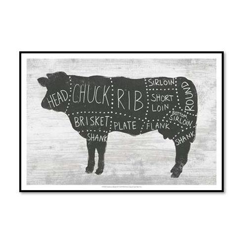 Farmhouse Butcher II - Framed & Mounted Art