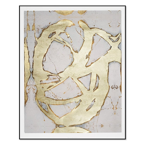 Ace of Spades in Gold II - Framed & Mounted Art