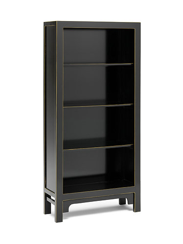 40541 - The Nine Schools Qing Black and Gilt Large Bookcase